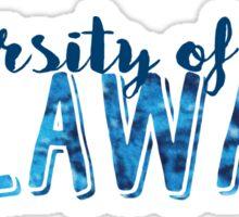 University of Delaware block letters Sticker