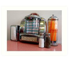 Fiftie's Juke Box Art Print