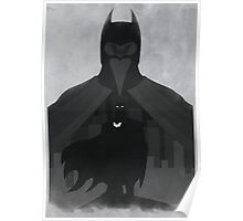 Justice: the Knight Minimalist Comics Justice League of America Poster