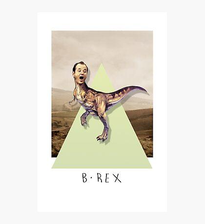 Bill Murray TRex Photographic Print