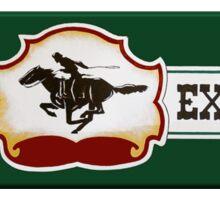 Pony Express Sticker