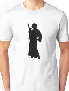Star Wars Princess Leia Black Unisex T-Shirt