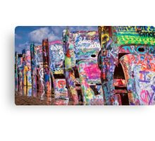 Cadillac Ranch Afternoon Painterly Canvas Print