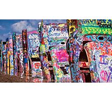 Cadillac Ranch Afternoon Painterly Photographic Print