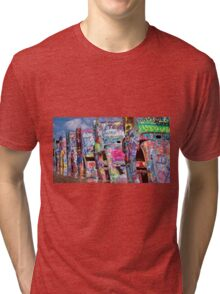 Cadillac Ranch Afternoon Painterly Tri-blend T-Shirt