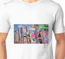 Cadillac Ranch Afternoon Painterly Unisex T-Shirt