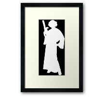 Star Wars Princess Leia White Framed Print