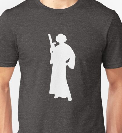 Star Wars Princess Leia White Unisex T-Shirt
