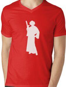 Star Wars Princess Leia White Mens V-Neck T-Shirt