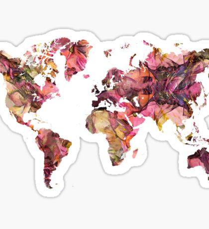 World Map 2033 Sticker