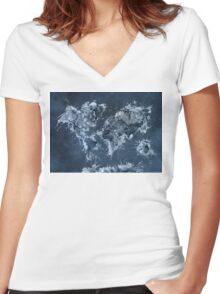 World Map 2031 Women's Fitted V-Neck T-Shirt