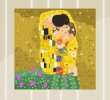 The Kiss (Lovers) by Gustav Klimt by alapapaju