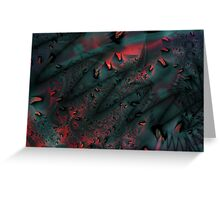Red Abstract Lined Greeting Card