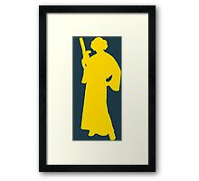 Star Wars Princess Leia Yellow Framed Print