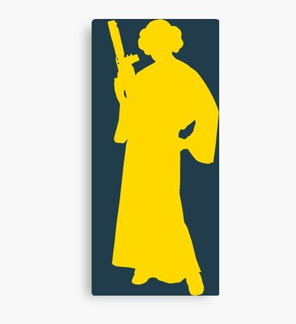 Star Wars Princess Leia Yellow Canvas Print