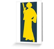 Star Wars Princess Leia Yellow Greeting Card