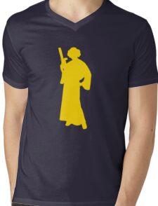 Star Wars Princess Leia Yellow Mens V-Neck T-Shirt