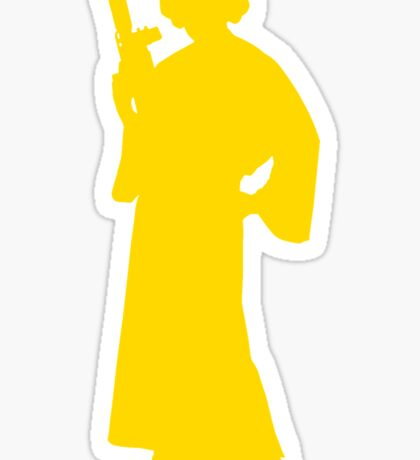 Star Wars Princess Leia Yellow Sticker