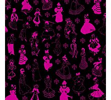 Vintage Ladies PINK NEON Photographic Print