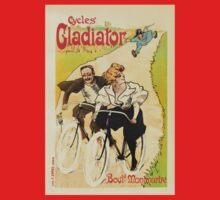 Cycles Gladiator vintage French bicycle advertising One Piece - Long Sleeve