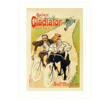 Cycles Gladiator vintage French bicycle advertising Art Print