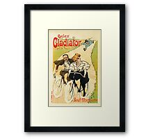 Cycles Gladiator vintage French bicycle advertising Framed Print