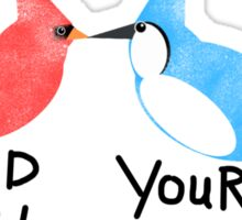 Find Your Love (Kissing Birds) Sticker