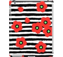 Grungy poppies and stripes iPad Case/Skin