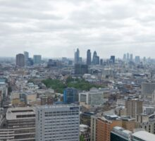 A view across London from centrepoint Sticker