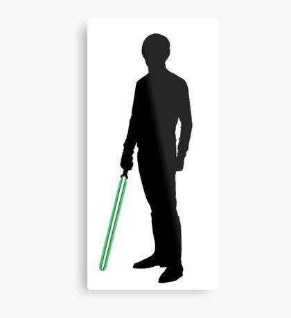 Star Wars Luke Skywalker Black Metal Print