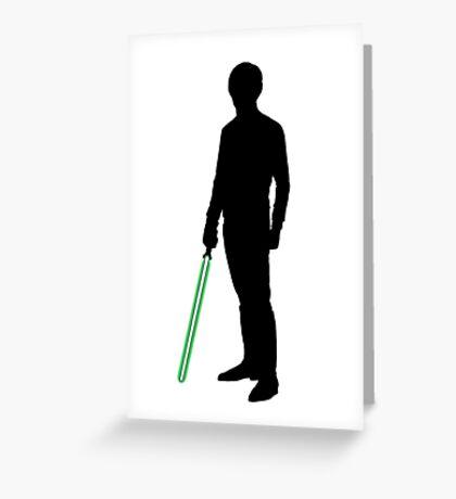 Star Wars Luke Skywalker Black Greeting Card