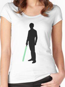 Star Wars Luke Skywalker Black Women's Fitted Scoop T-Shirt