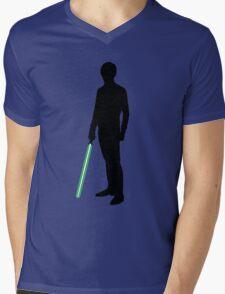 Star Wars Luke Skywalker Black Mens V-Neck T-Shirt