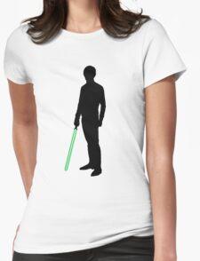 Star Wars Luke Skywalker Black Womens Fitted T-Shirt
