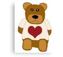 Loving teddybear Canvas Print