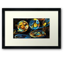 Interplanetary Disks Framed Print
