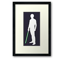 Star Wars Luke Skywalker White Framed Print