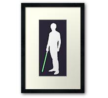 Star Wars Luke Skywalker White Framed Print