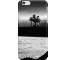 Cranes at Port Talbot docks iPhone Case/Skin