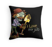 Plants vs Zombies - I Love My Job Throw Pillow