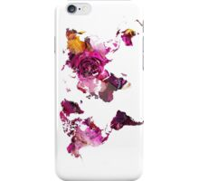 World Map roses iPhone Case/Skin