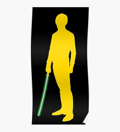 Star Wars Luke Skywalker Yellow Poster