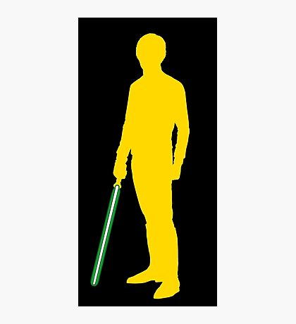 Star Wars Luke Skywalker Yellow Photographic Print