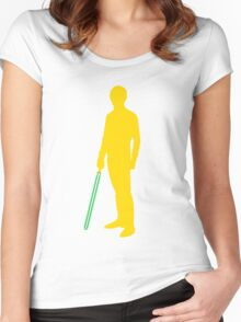 Star Wars Luke Skywalker Yellow Women's Fitted Scoop T-Shirt