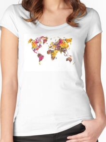 World Map 2045 Women's Fitted Scoop T-Shirt