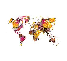 World Map 2045 Photographic Print