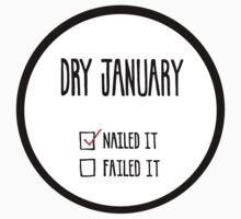 Dry January Nailed Sticker by KatHassell