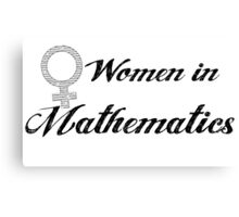 Women in Mathematics Canvas Print