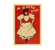 A gaiety girl, vintage British musical advert  Art Print
