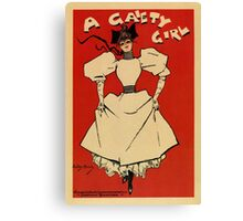 A gaiety girl, vintage British musical advert  Canvas Print